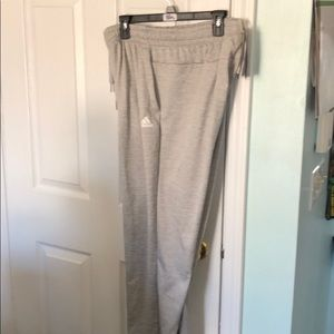 Men's Adidas gray sweatpants with pockets-Size L